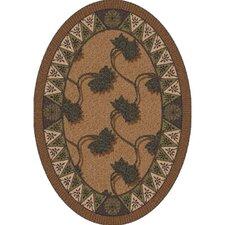 Pastiche Bantam Walnut Contemporary Oval Rug