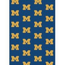 Collegiate II Michigan Big Blue Rug