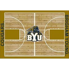 College Court NCAA BYU Novelty Rug