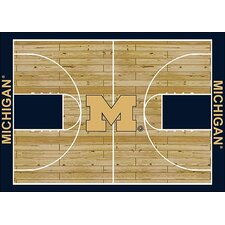 College Court NCAA Michigan Novelty Rug