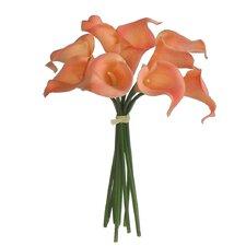 Real Touch Soft Calla Lily Arrangements Bouquet