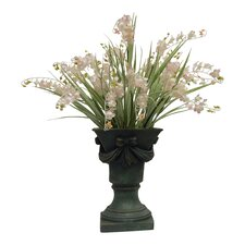 French Country Chic Lily of the Valley in Footed Urn