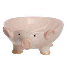 Quirky Country Pig Serving Bowl