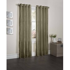 Sherry Crushed Satin Curtain Panel with 8 Pieces Gromment Top