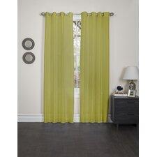 Holly Faux Silk Single Curtain Panel