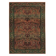 Karsyn Traditional Red/Green Area Rug
