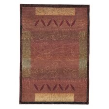 Karsyn Vines Red/Gold Area Rug