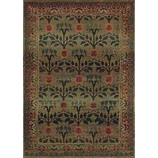Karsyn Floral Green/Brown Area Rug