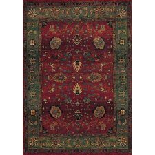 Karsyn Floral Red/Green Area Rug
