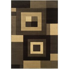 Metro Geometric Brown/Beige Area Rug