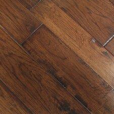 Tuscan Random Width Engineered Hickory Hardwood Flooring in Sienna