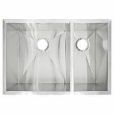 """29"""" x 20"""" Undermount Double Basin Kitchen Sink"""