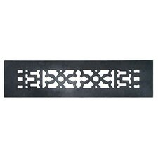 "2.25"" x 12"" Cast Iron Grille in Black"