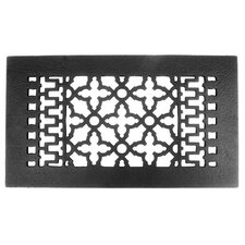 "6"" x 12"" Cast Iron Grille in Black"