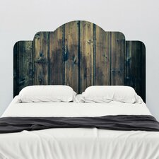 Stained Wood Adhesive Headboard Wall Mural