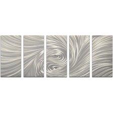 5 Piece Velvety Greys Wall Décor Set (Set of 5)
