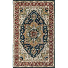 Camden Navy & Red Area Rug