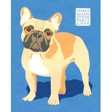Show Dogs French Bulldog by Jenny Wiscombe 2 Piece Painting Print on Wrapped Canvas Set