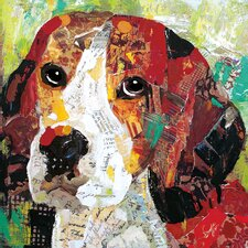 Art Dog Beagle by Sandy Doonan 4 Piece Graphic Art on Wrapped Canvas Set