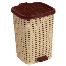 6.8-Gal. Rattan Compact Trash Bin