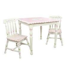 Bouquet 3 Piece Table & Chair Set