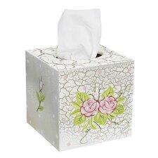 Crackled Rose Tissue Box Cover