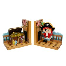Fantasy Fields Pirates Island Bookends (Set of 2)