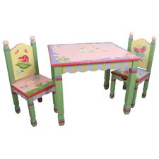 Magic Garden Kids 3 Piece Table & Chair Set