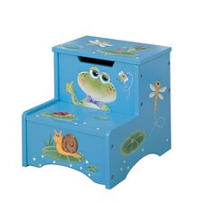 Froggy 2-Step MDF Step Stool with Storage with 200 lb. Load Capacity