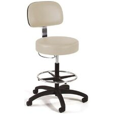 Height Adjustable Lab Stool with Fire Resistant Roam