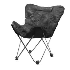 Urban Shop Faux Leather Butterfly Lounge Chair