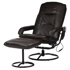Heated Massage Chair in Brown
