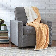 Textured Sherpa Throw Blanket