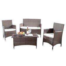Skylar 4 Piece Deep Seating Group with Cushions