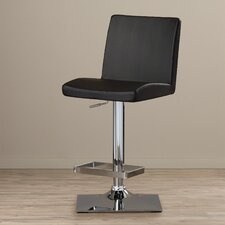 Michaela Adjustable Height Swivel Bar Stool with Cushion