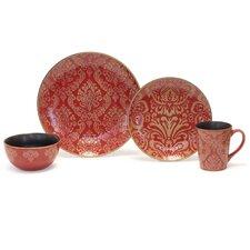 Damask 16 Piece Dinnerware Set