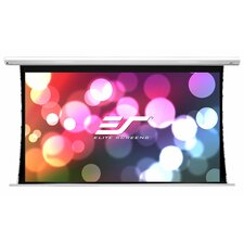 Elite Screens Saker Tab-Tension Series Tensioned Electric Drop Down Projection Screen