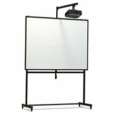 Universal Portable Mobile Stand with Short-Throw Projector Mount for Elite Screens Whiteboard Dry-Erase Projection Screens
