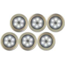 Battery Powered LED Wireless Motion Sensing Light (Set of 6)