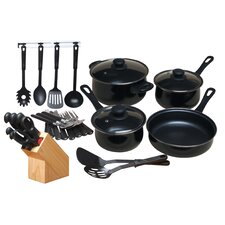 32 Piece Nonstick Cookware Set