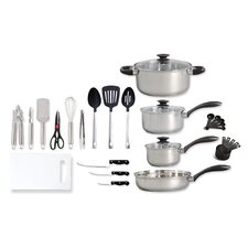 Kitchen Tool 30 Piece Stainless Steel Cookware Set