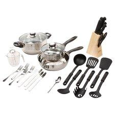 Lybra 32 Piece Cooking Utensil Set