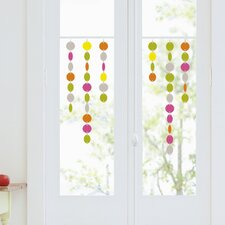 Colored Dots Decorative Window Decal