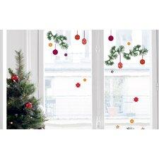 Christmas Tree Branch Decorations Window Sticker