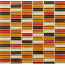 Aria Glass Mosaic Tile in Mediterranean Sun