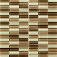 Aria Glass Mosaic Tile in Cafe Mocha