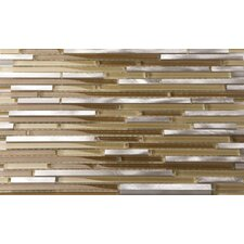 Riga Random Sized Metal Mosaic Tile in Steel Mocha