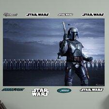 Star Wars Jango Fett Clone Arm Illustrated Wall Mural