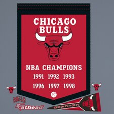 NBA Championship Banner Wall Decal