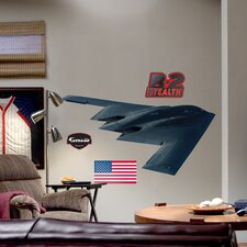 Military B-2 Stealth Bomber Wall Decal